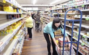 Photo of grocery store aisle