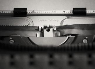 typewriter dear diary